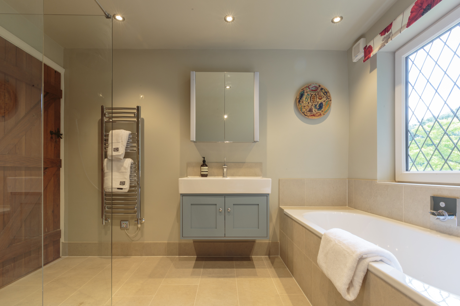 large contemporary surrey bathroom design installation