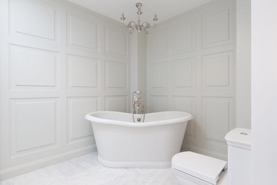marble feature bathroom design  installation  jeremy