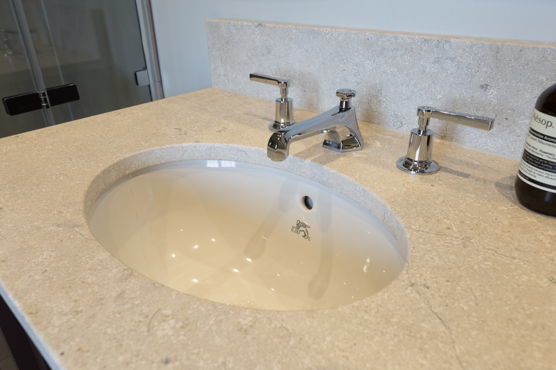Classic Limestone Bathroom Design & Installation | Jeremy Colson