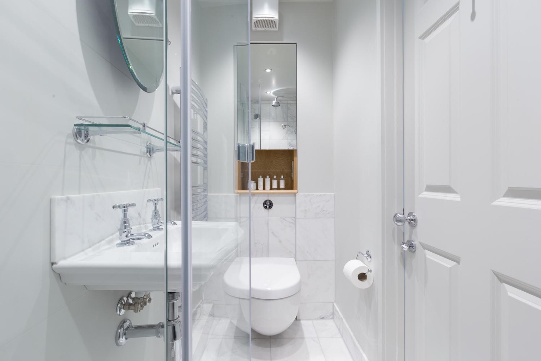 Calacatta Marble Shower Room Design & Installation | Jeremy Colson ...