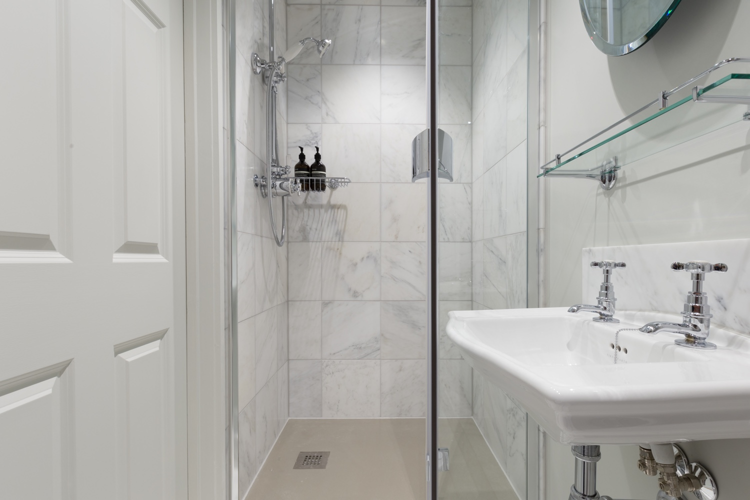 Calacatta Marble Shower Room Design & Installation | Jeremy Colson ...