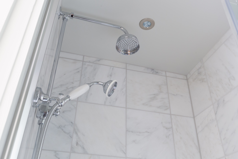Calcutta Marble Shower Room Design & Installation | Jeremy Colson ...