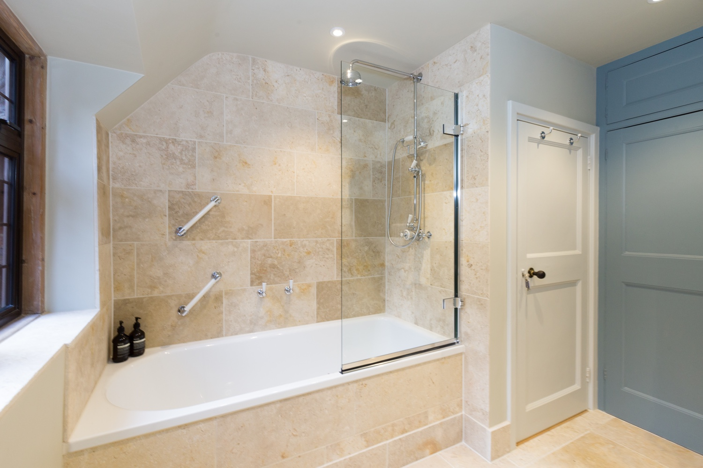 Part tiled bathrooms