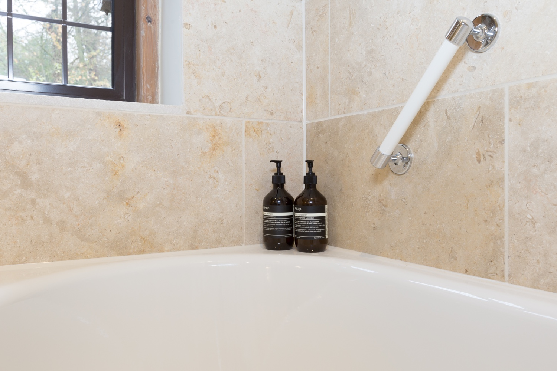 Timeless Limestone Family Bathroom Design & Installation | Jeremy ...