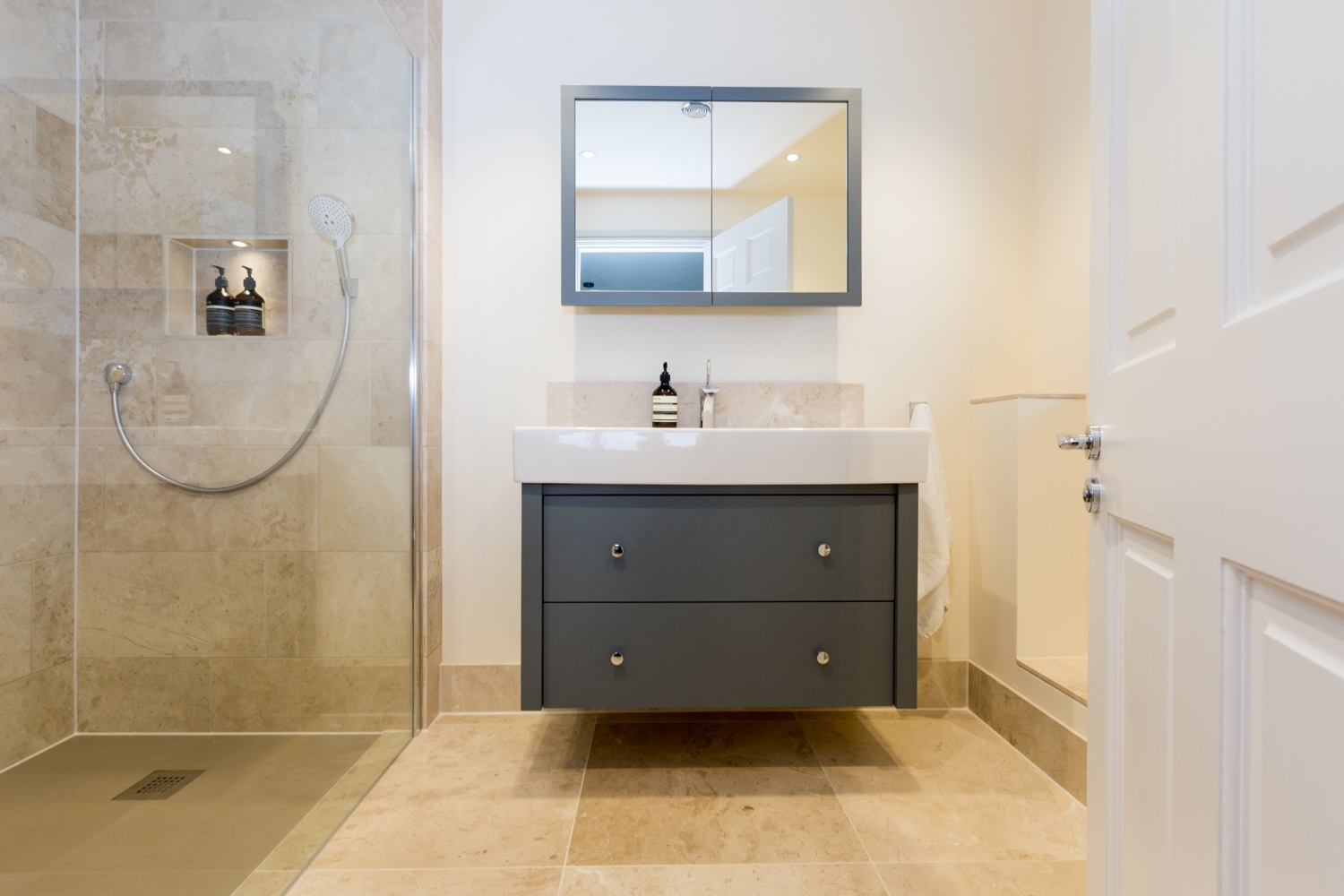 Honed Marble En Suite Bathroom Design Installation Jeremy Colson Bathrooms Surrey