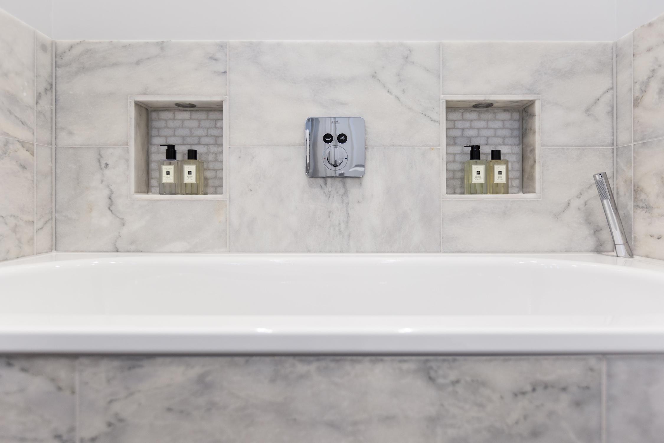 Classic marble bathroom design installation jeremy for Bathroom design surrey